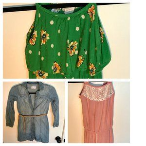 2 dresses and a romper combo 7/8 (small 10)